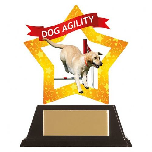 Mini-Star Dog Agility Acrylic Plaque 100mm